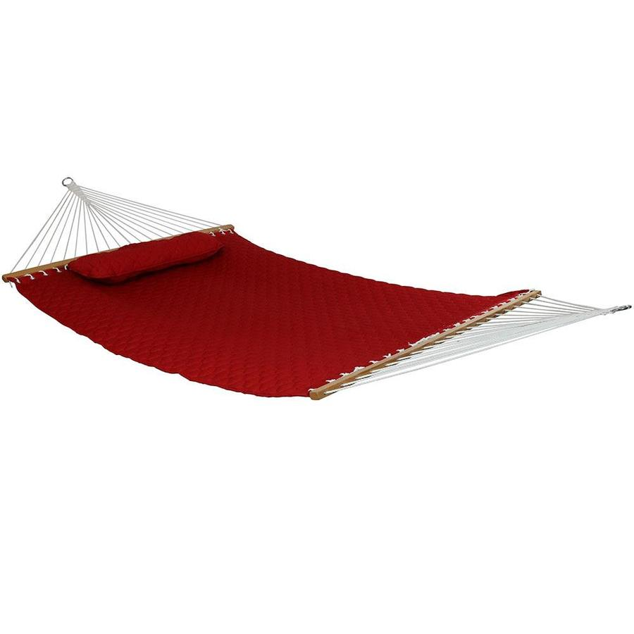Sunnydaze Decor Red Quilted Hammock In The Hammocks Department At Lowes Com