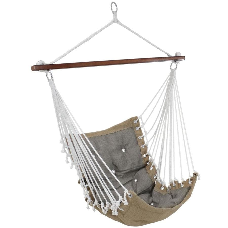 Sunnydaze Decor Tufted Victorian Hammock Chair Swing Indoor Or Outdoor Hanging Seat Sturdy 300 Pound Weight Capacity Gray In The Hammocks Department At Lowes Com