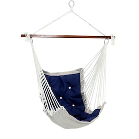 Sunnydaze Decor Tufted Victorian Hammock Chair Swing Indoor Or Outdoor Hanging Seat Sturdy 300 Pound Weight Capacity Sea Grass In The Hammocks Department At Lowes Com
