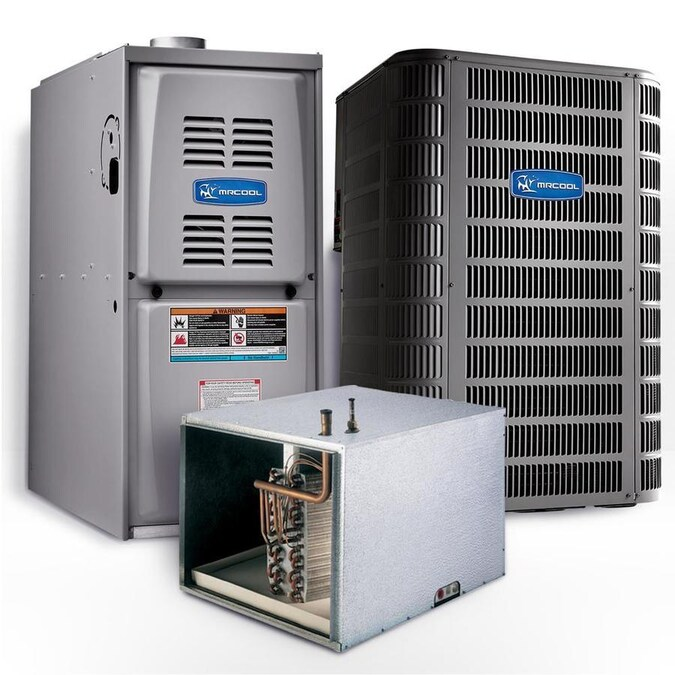 Mrcool Signature 4 Ton 14 25 Seer Horizontal 80 Afue 90 000 Btu Complete Split System Air Conditioner With Gas Furnace In The Central Air Conditioners Department At Lowes Com