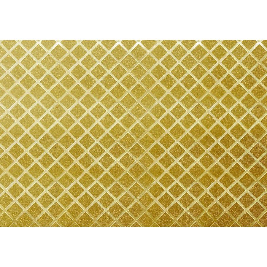 Dundee Deco Falkirk Mcgowen 26 6 Sq Ft Golden Vinyl Paintable Textured Tile Self Adhesive Peel And Stick Wallpaper In The Wallpaper Department At Lowes Com