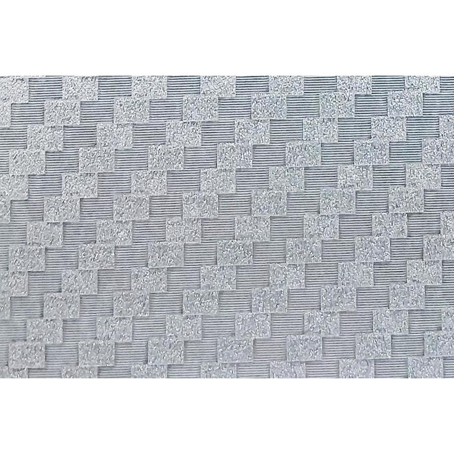 Dundee Deco Falkirk Mcgowen 26 6 Sq Ft Silver Vinyl Paintable Textured Tile Self Adhesive Peel And Stick Wallpaper In The Wallpaper Department At Lowes Com