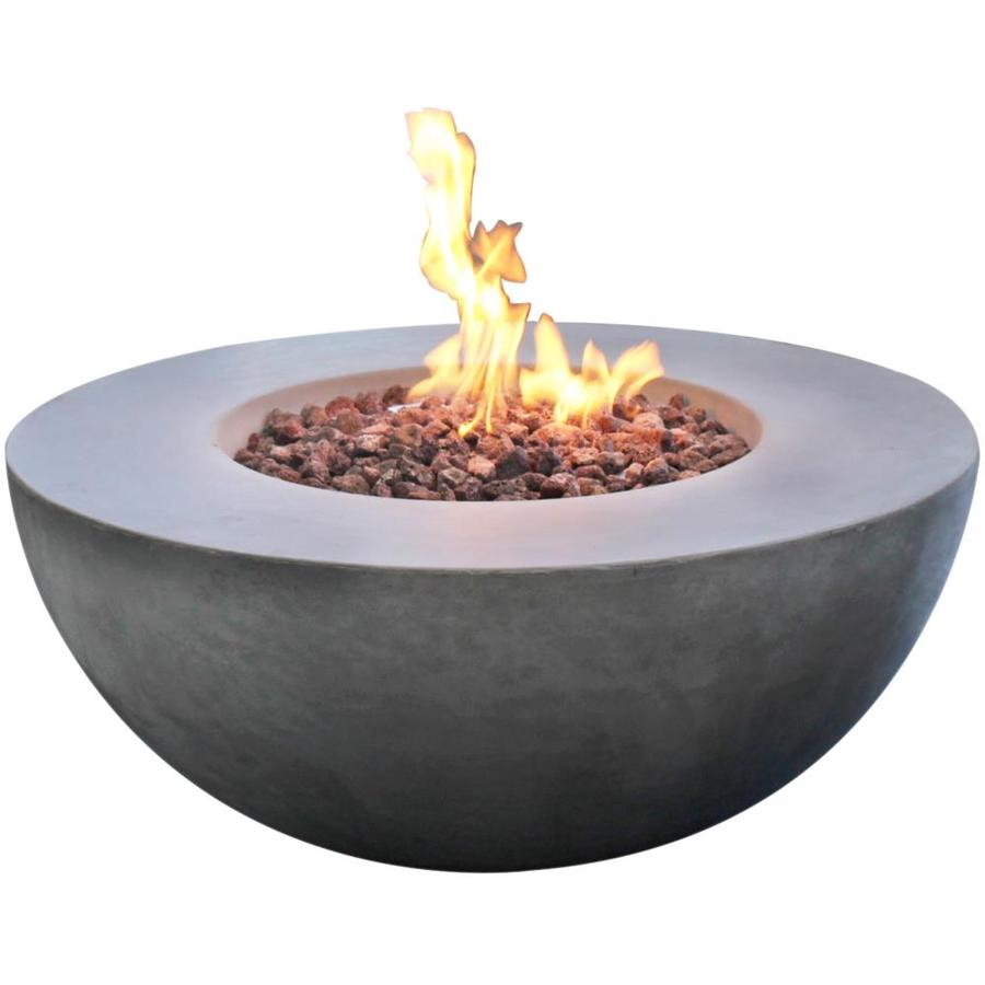 Elementi Roca 34 In W 50000 Btu Grey Concrete Tabletop Concrete Natural Gas Fire Pit In The Gas Fire Pits Department At Lowes Com