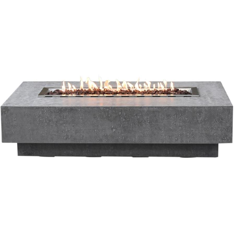 Elementi Hampton 32 In W 45000 Btu Grey Concrete Concrete Propane Gas Fire Table In The Gas Fire Pits Department At Lowes Com