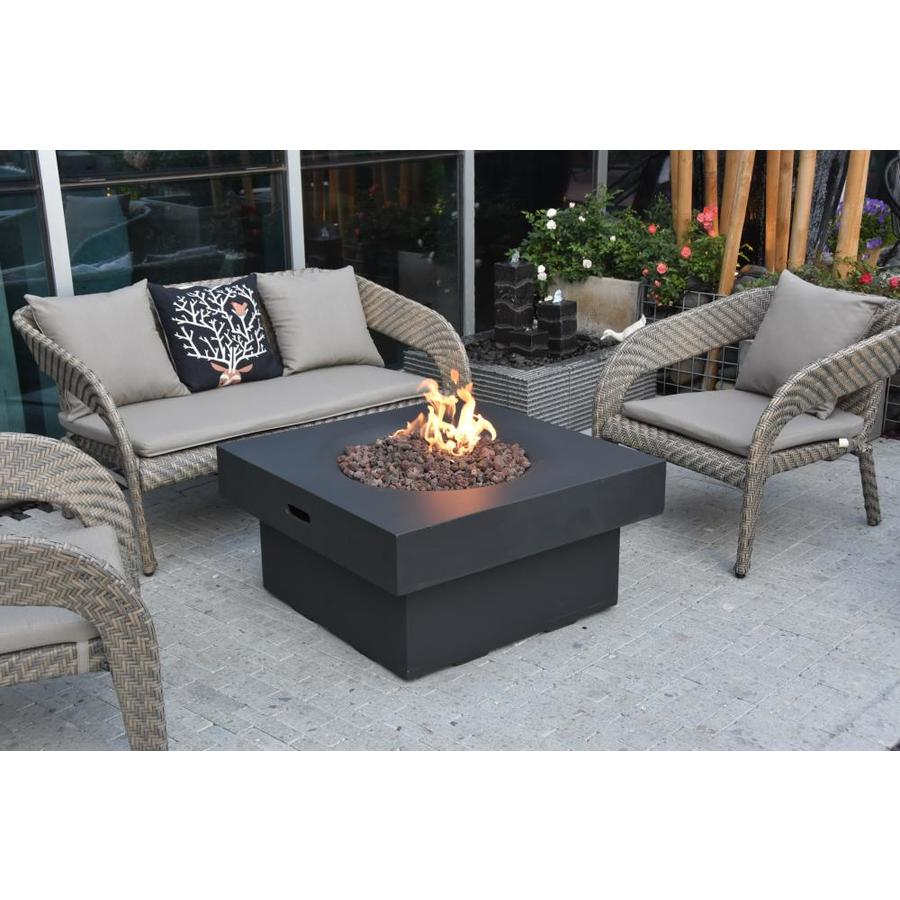 Elementi Brandford 34 In W 50000 Btu Grey Concrete Tabletop Concrete Natural Gas Fire Pit In The Gas Fire Pits Department At Lowes Com