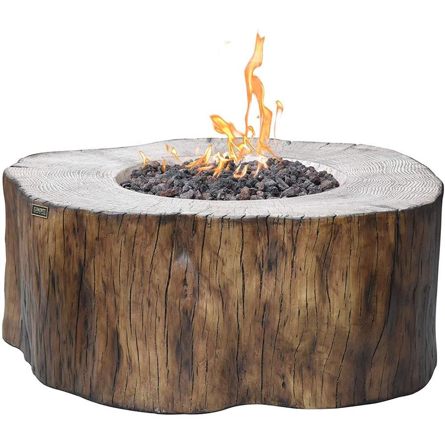 Elementi Manchester 39 In W 45000 Btu Drift Wood Concrete Natural Gas Fire Pit In The Gas Fire Pits Department At Lowes Com