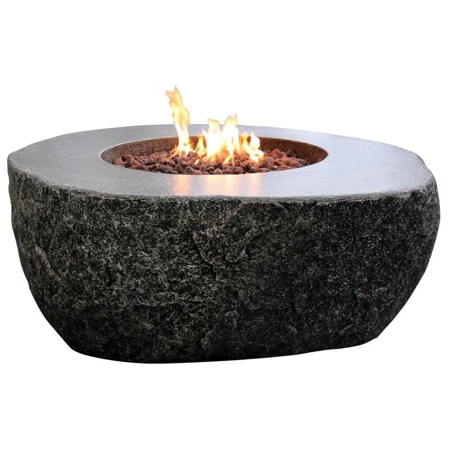 Elementi Fiery Rock 42 In W 45000 Btu Grey Concrete Concrete Natural Gas Fire Pit In The Gas Fire Pits Department At Lowes Com