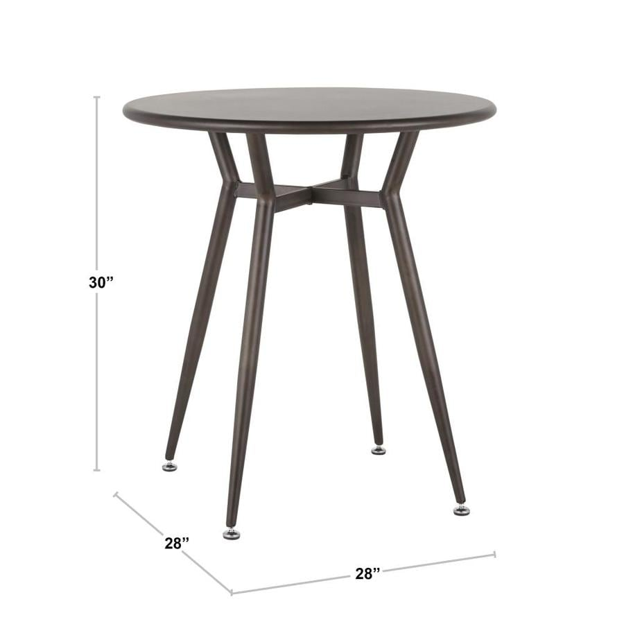 Lumisource Clara Antique Metal Round Dining Table Metal With Antique Metal Metal Base In The Dining Tables Department At Lowes Com