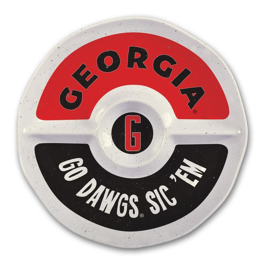 Magnolia Lane Georgia Bulldogs More Than Tailgating 15 In X 15 In Uga 3 Divided Round Serving Platter In The Serving Trays Caddies Department At Lowes Com
