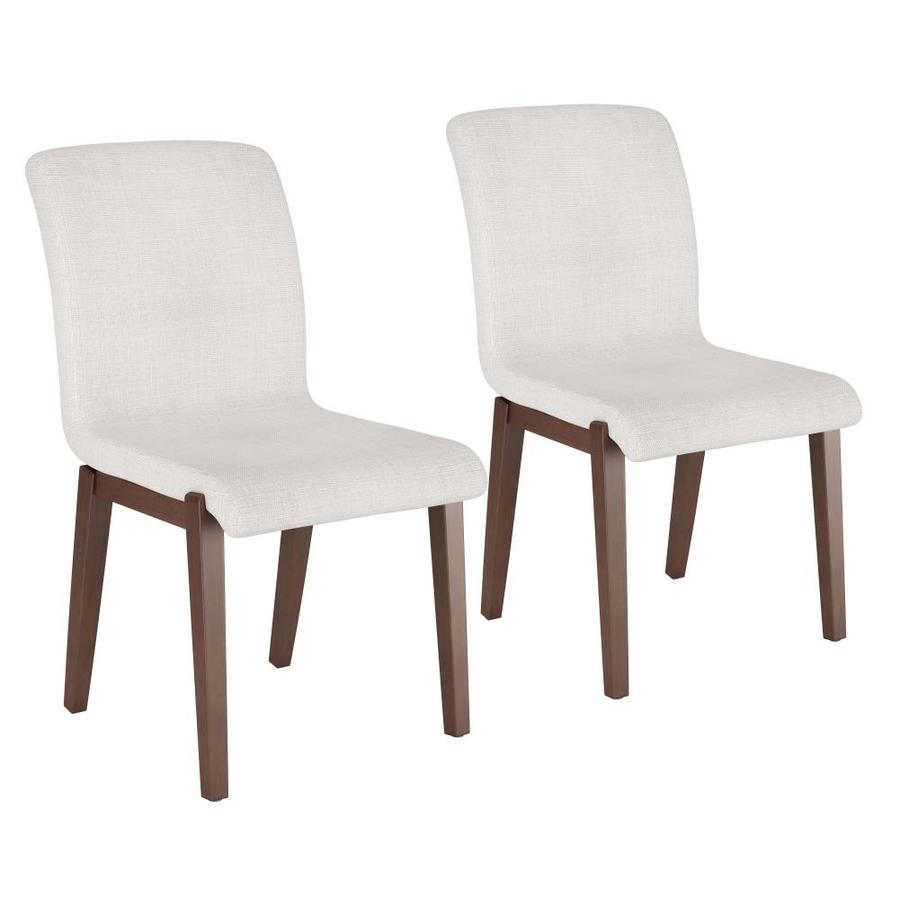 Zuo Modern Set Of 2 Hamilton Contemporary Modern Polyester Polyester Blend Upholstered Dining Side Chair Wood Frame In The Dining Chairs Department At Lowes Com