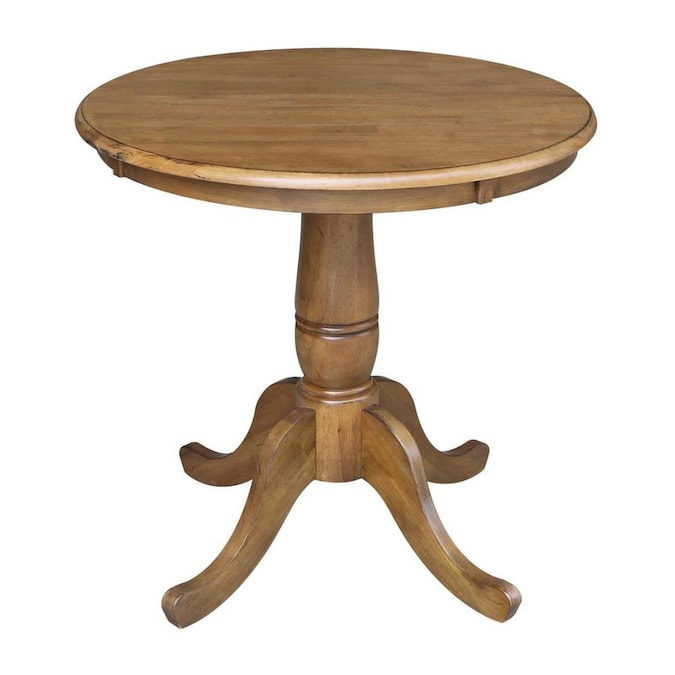International Concepts Pecan Wood Round Dining Table With Pecan Wood Base In The Dining Tables Department At Lowes Com