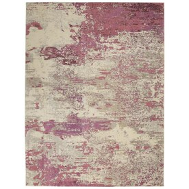 Linon Faux Sheepskin 5 X 7 Pink Indoor Solid Area Rug In The Rugs Department At Lowes Com