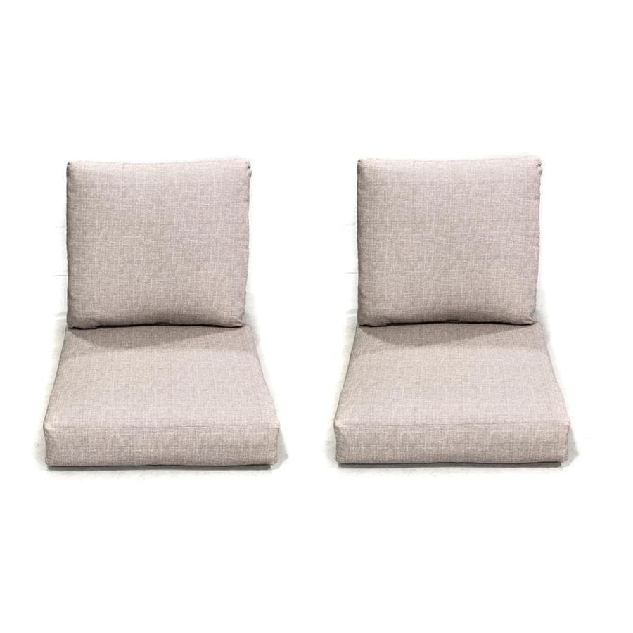 Donglin Furniture Indoor Outdoor Lounge Chair Cushion Set Of 2 Beige Fabric Deep Seat Patio Chair Cushion In The Patio Furniture Cushions Department At Lowes Com