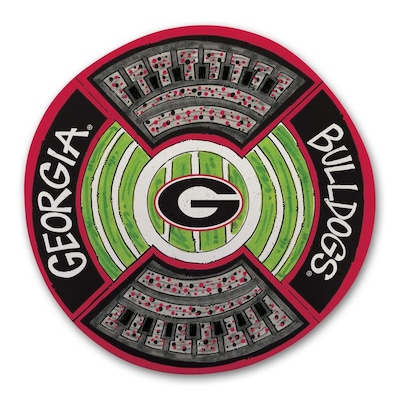 Magnolia Lane Georgia Bulldogs More Than Tailgating 13 5 In X 13 5 In Uga Round Serving Platter In The Serving Trays Caddies Department At Lowes Com