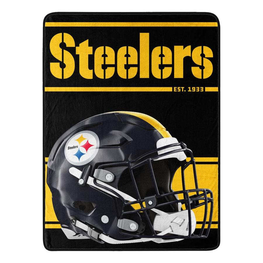 The Northwest Company Pittsburgh Steelers Nfl 059 Run Micro Multi Polyester Throw In The Blankets Throws Department At Lowes Com