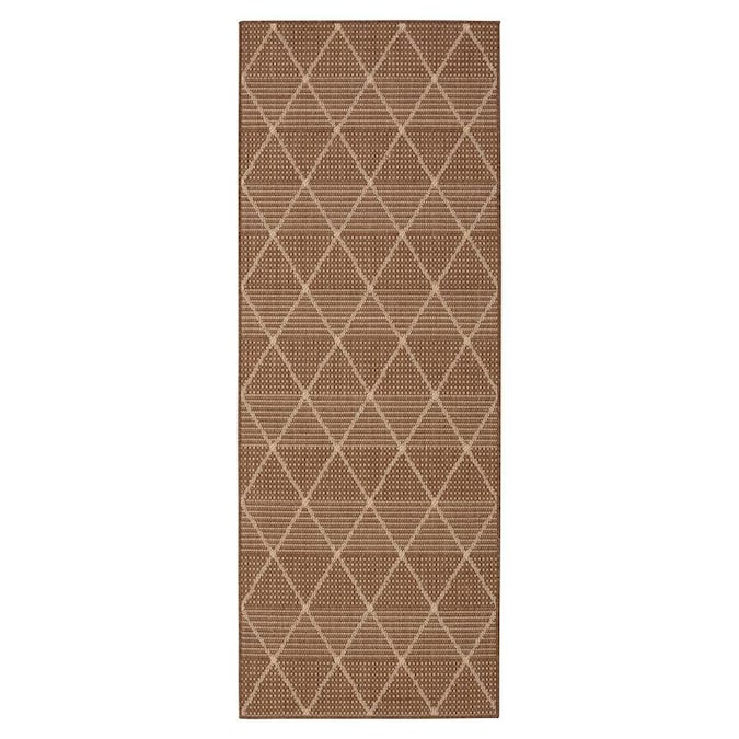 Ottomanson Clear Plastic Brown Indoor Area Rug In The Rugs Department At Lowes Com