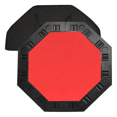 Hastings Home 8 Player Octagonal Table top- Red- 48 -in