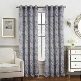 Olivia Gray Twilight Solid Blackout 54 x 90 in Rod Pocket Single Curtain Panel