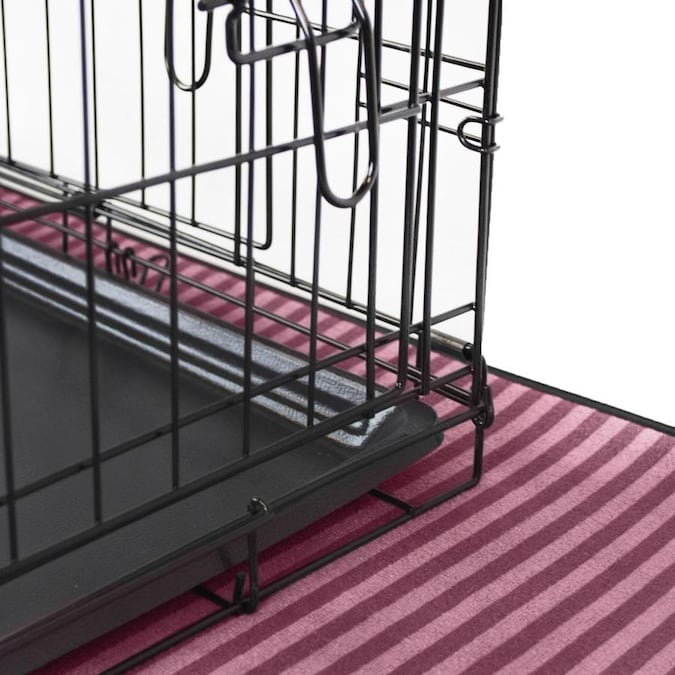 Dii Cage Mat Stripe Cranberry Medium In The Pet Kennel
