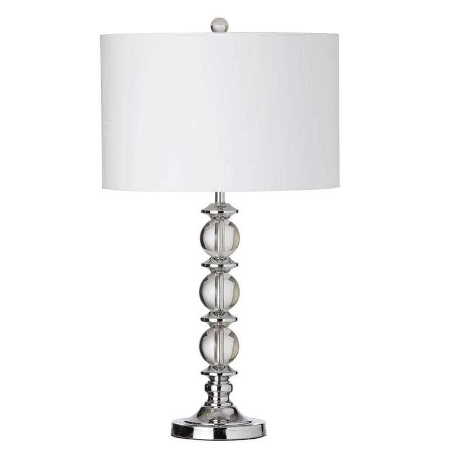 Dainolite Crystal 28 In Polished Chrome 3 Way Buffet Table Lamp With Fabric Shade In The Table Lamps Department At Lowes Com