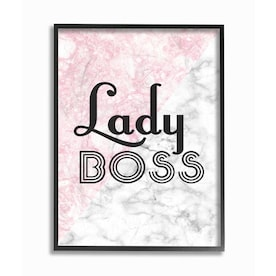 Stupell Industries Lady Boss Frameless 18 5 In H X 12 5 In W Abstract Wood Print In The Wall Art Department At Lowes Com
