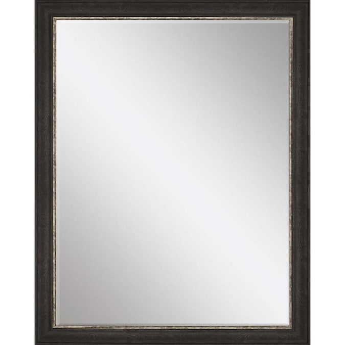 Paragon Framed Mirrors 46 In L X 36 In W Black Framed Wall Mirror In The Mirrors Department At Lowes Com