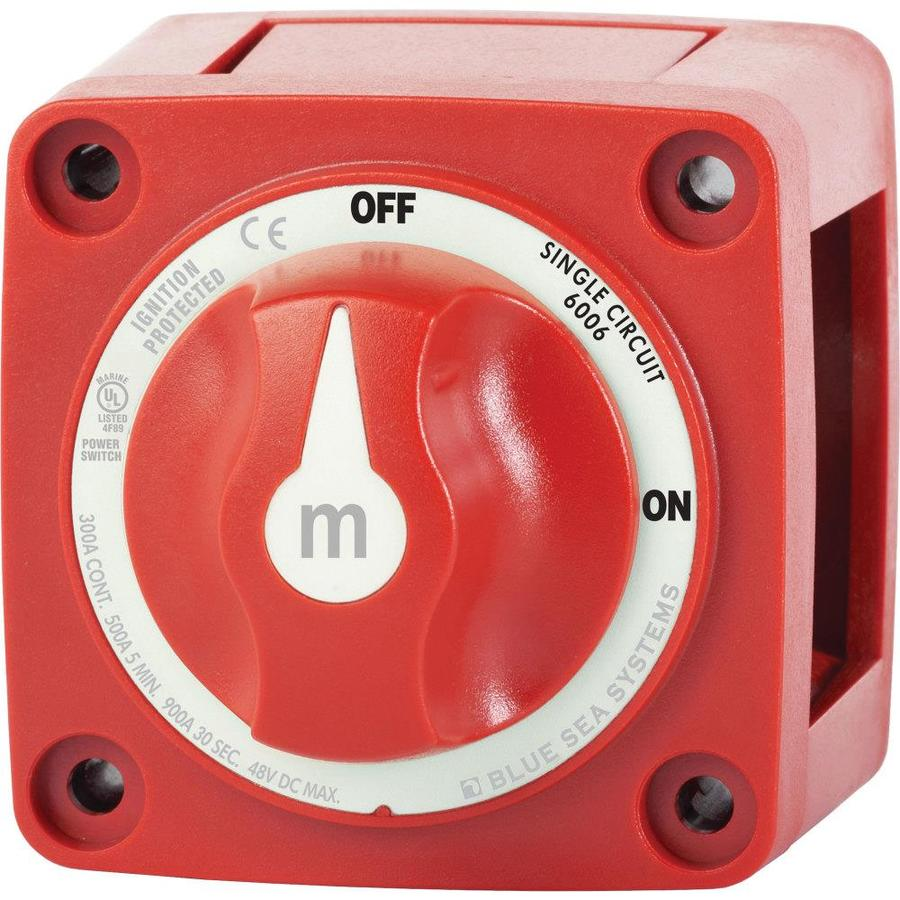 Blue Sea Systems m Series Mini On Off Battery Switch with Knob ...