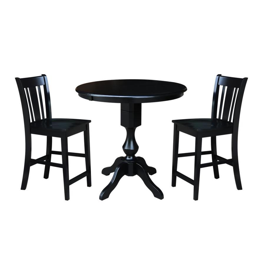 International Concepts Black Dining Room Set With Round Table In The Dining Room Sets Department At Lowes Com