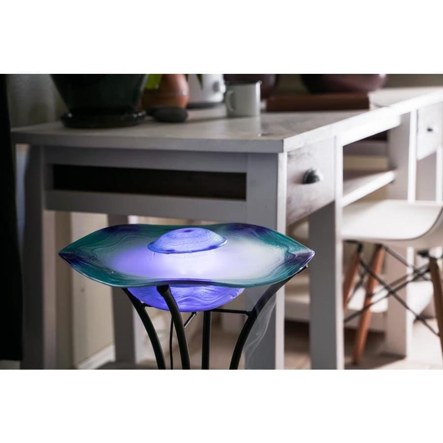 Xbrand Canary Products Blue Floor Aromatherapy Mist Fountain Aroma Diffuser W Inline Control 33 In Tall In The Misting Attachments Accessories Department At Lowes Com