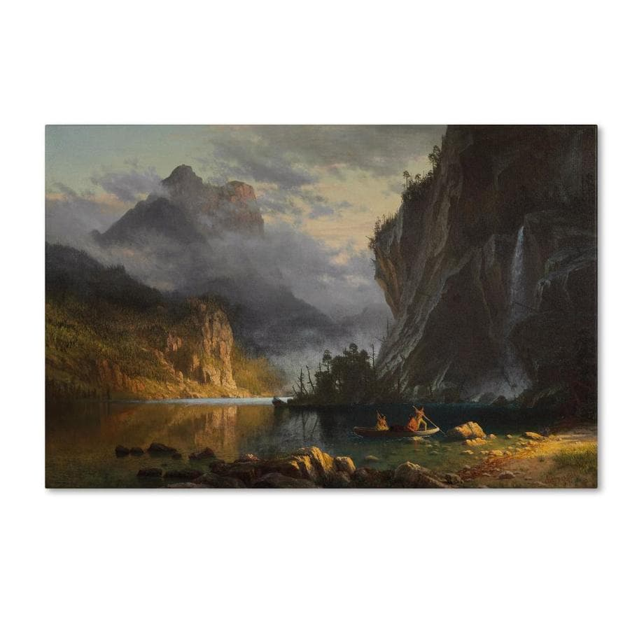 Trademark Fine Art Landscapes Framed 22 In H X 32 In W Landscape Canvas Print In The Wall Art Department At Lowes Com