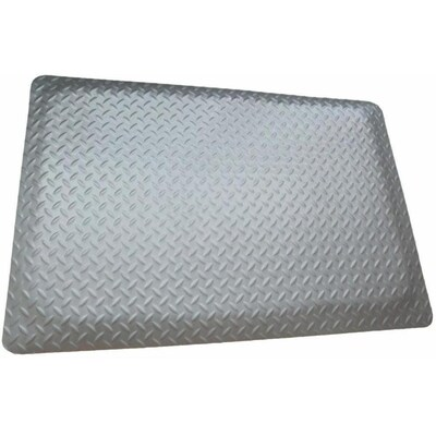 Rhino Mats 4 Ft X 9 16 In Gray Gray Rectangular Indoor Outdoor Anti Fatigue Mat In The Mats Department At Lowes Com