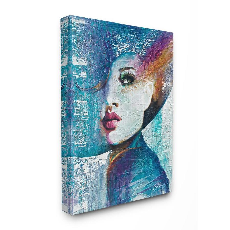 Stupell Industries Frameless 30 In H X 24 In W Abstract Canvas Print In The Wall Art Department At Lowes Com
