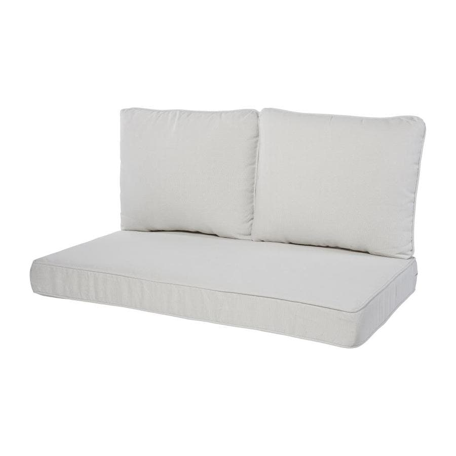 Haven Way Solartex 3 Piece Linen Patio Loveseat Cushion In The Patio Furniture Cushions Department At Lowes Com