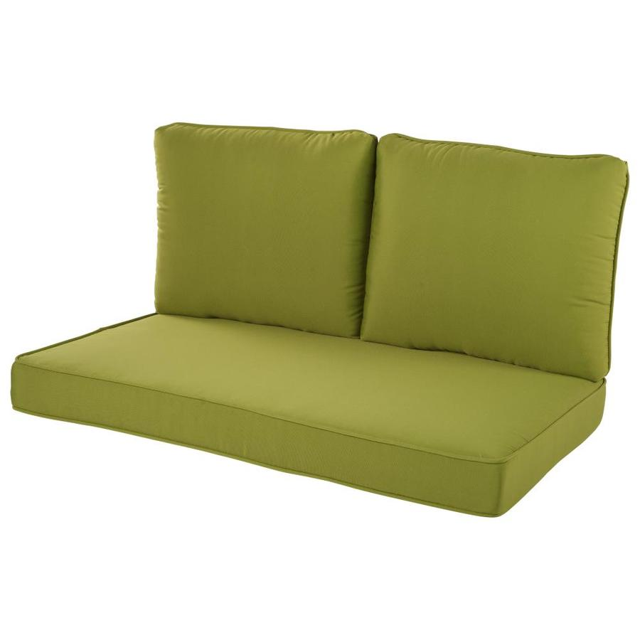 Haven Way Solartex 3 Piece Green Patio Loveseat Cushion In The Patio Furniture Cushions Department At Lowes Com