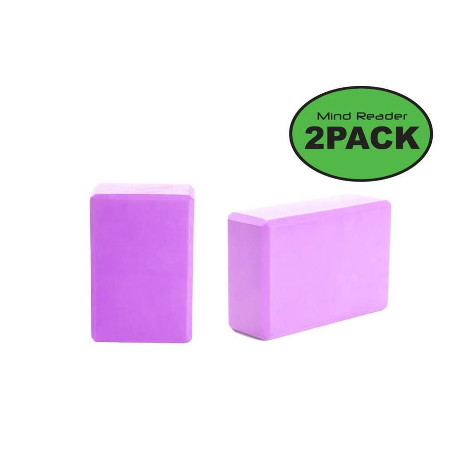 Mind Reader Mind Reader Yoga Block Set Of 2 High Density Eva Foam Blocks Non Slip Surface For Yoga Pilate Meditation Supports Deepen Poses Improve Strength And Aid Balance And Flexibility Purple In