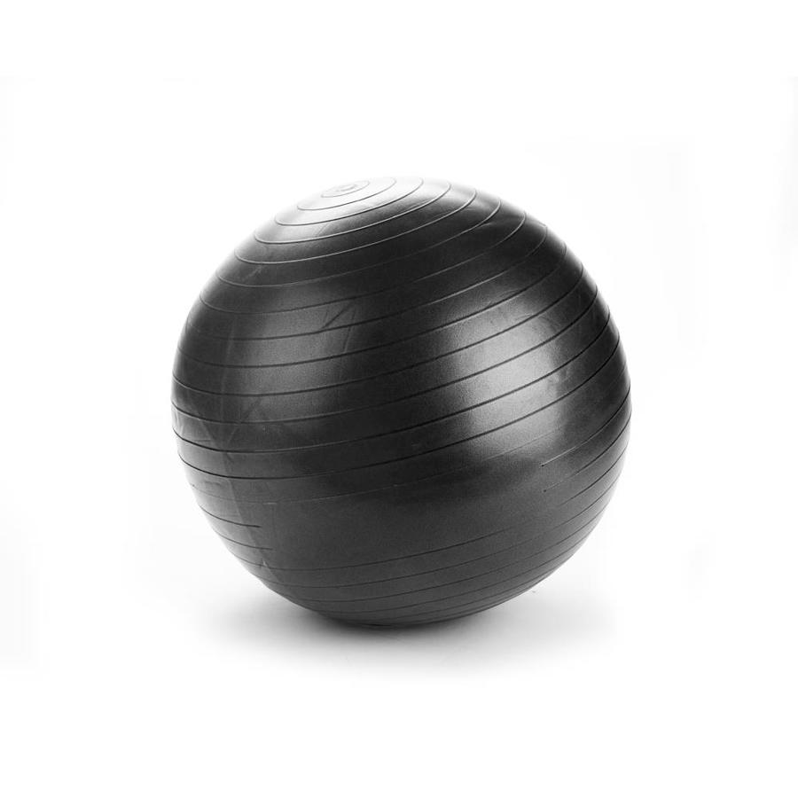 Mind Reader Mind Reader Exercise Yoga Ball 55 Cm For Fitness Stability Balance Yoga Anti Burst Heavy Duty Birthing Ball With Quick Pump Included Home Office Ball Chair Black In The Pilates Yoga
