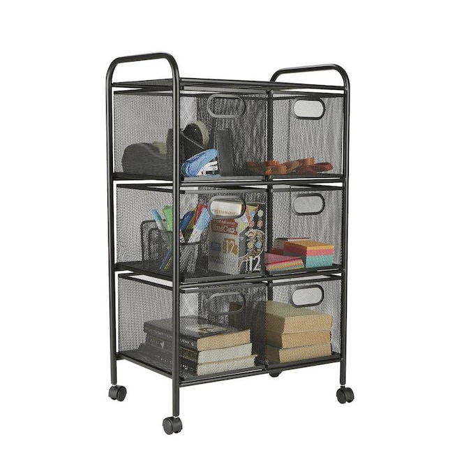 Mind Reader Mind Reader 6 Drawer Rolling Mesh Office Cart