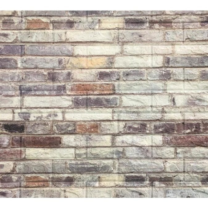 Dundee Deco Falkirk Jura 3d 30 In X 28 In Distressed Off White Purple Brown Wall Panel In The Wall Panels Department At Lowes Com
