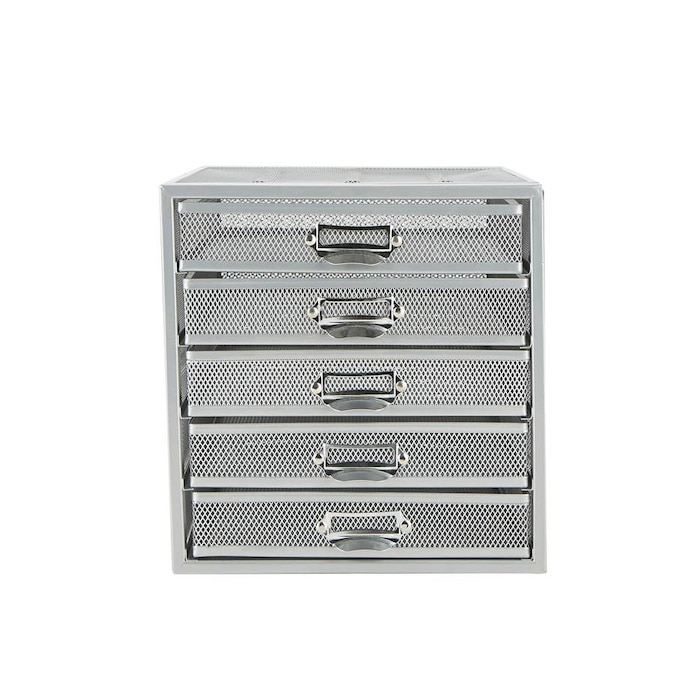 Mind Reader Mind Reader 5 Drawer Cabinet, Metal Storage