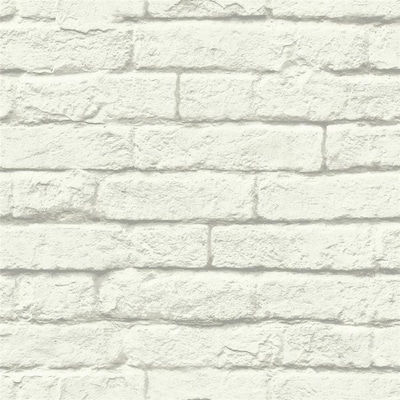White Brick Wallpaper At Lowes Com