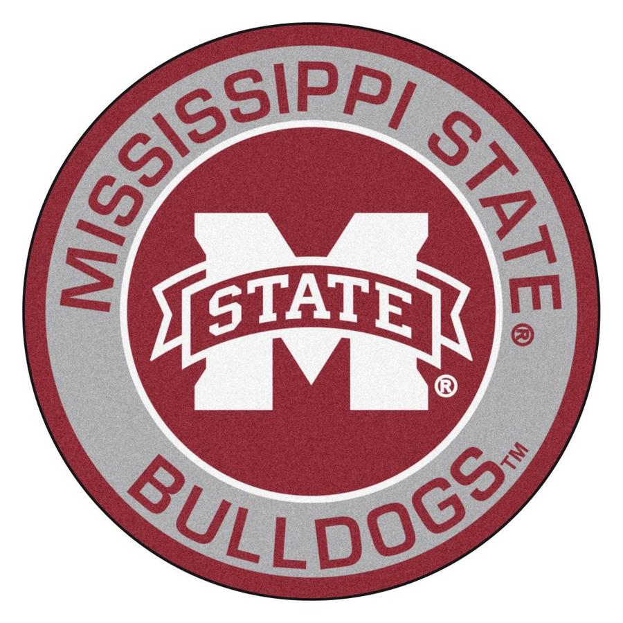 Fanmats Mississippi State Bulldogs Ncaa Roundel Mat 2 Ft X 2 Ft Red Round Indoor Door Mat In The Mats Department At Lowes Com