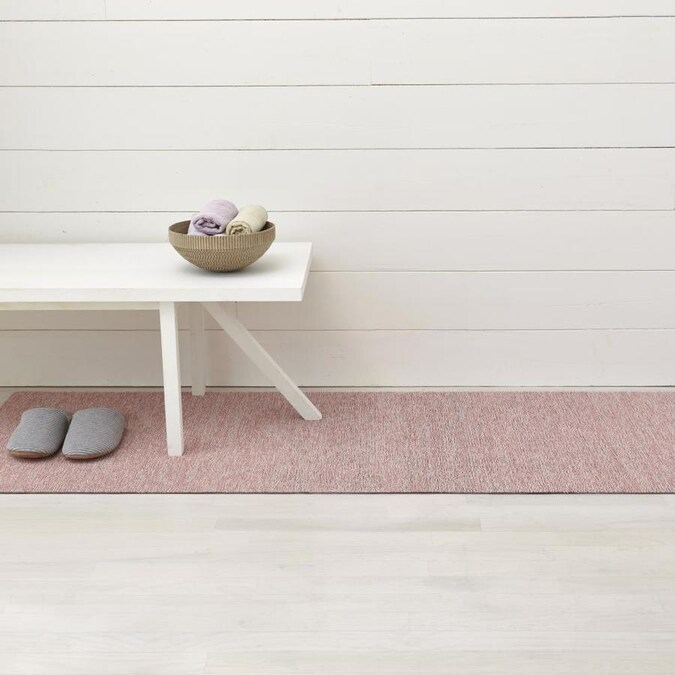 Chilewich Shag Mats 2 X 6 Blush Indoor Outdoor Solid Runner In The Rugs Department At Lowes Com