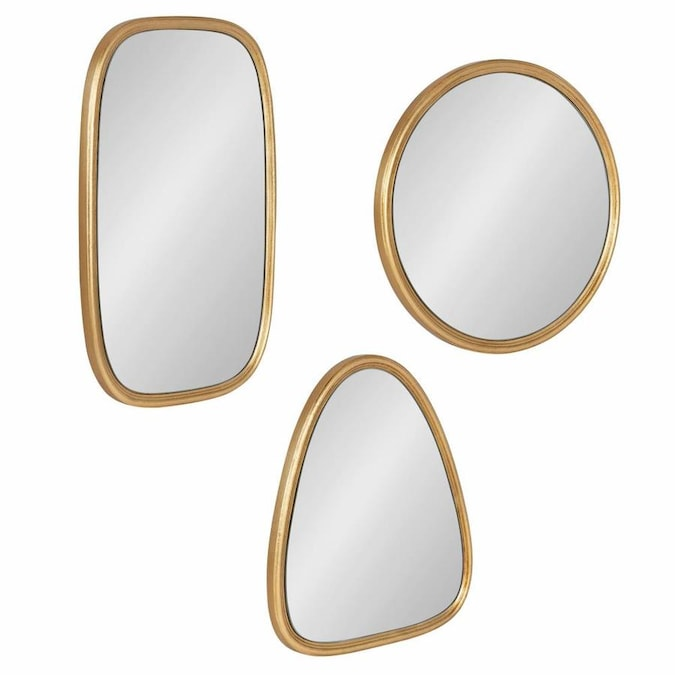 Kate And Laurel Caskill 16 In L X 12 In W Irregular Gold Framed Wall Mirror In The Mirrors Department At Lowes Com