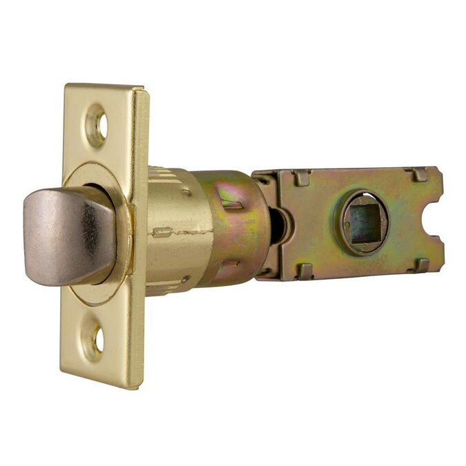 Design House Polished Brass 6 Way Square Spindle Passage Latch In The Door Latch Bolts Department At Lowes Com