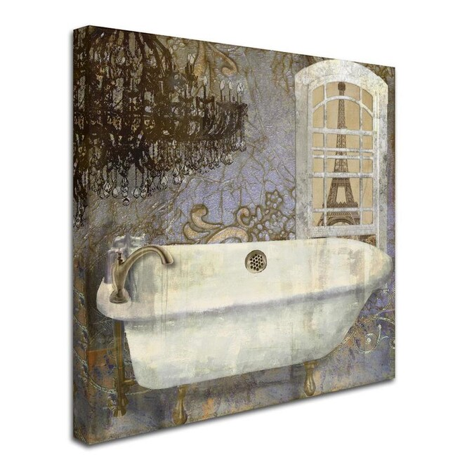 Trademark Fine Art Home Decor Framed 14 In H X 14 In W Bath Canvas Print In The Wall Art Department At Lowes Com