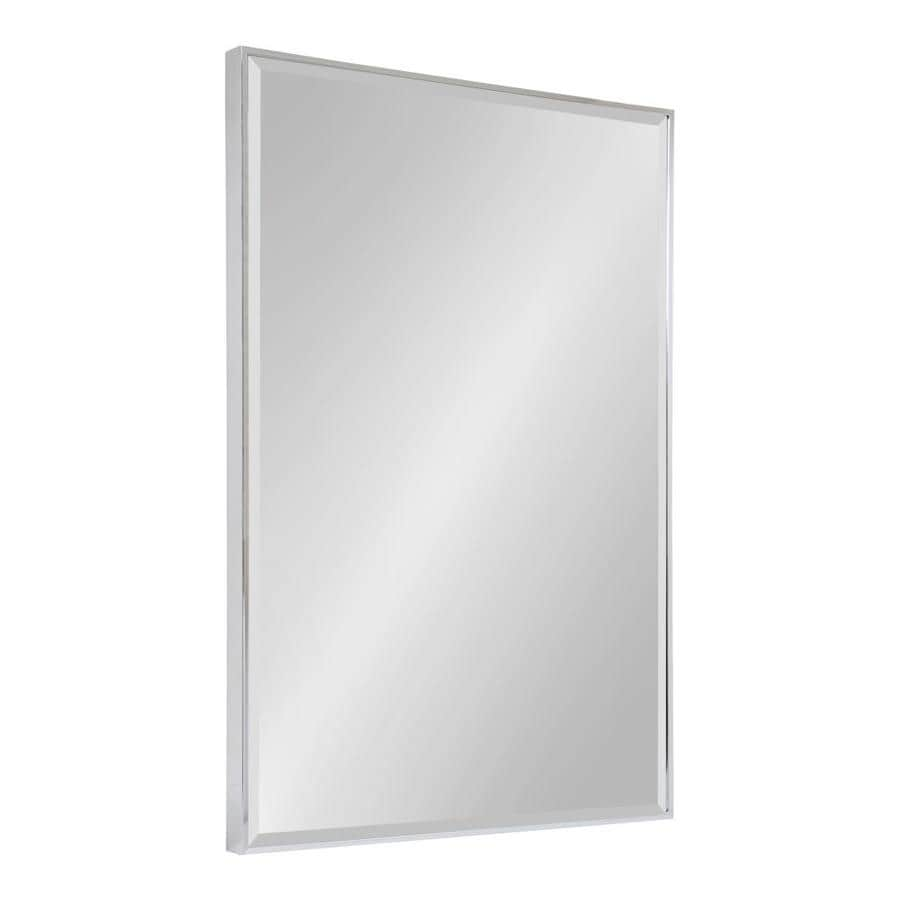 Kate And Laurel Rhodes 36 75 In L X 24 75 In W Silver Beveled Wall Mirror At Lowes Com