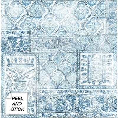 Blue Peel And Stick Wallpaper At Lowes Com