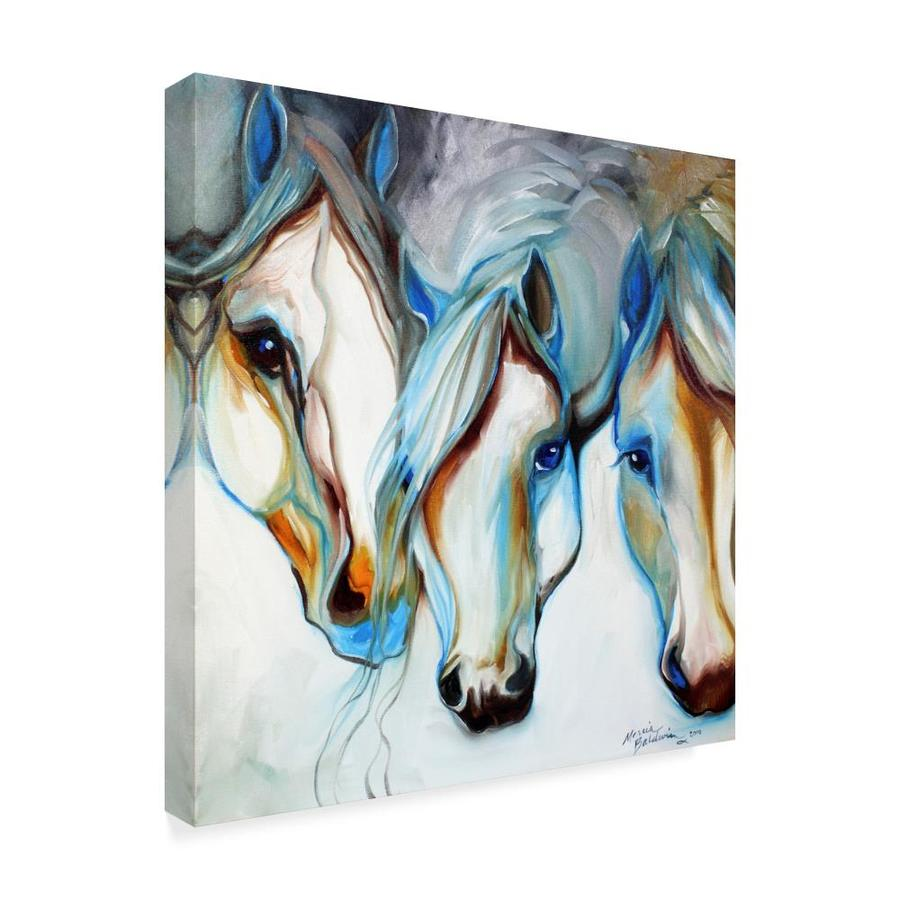 Trademark Fine Art Animals Framed 18 In H X 18 In W Animals Canvas Print In The Wall Art Department At Lowes Com