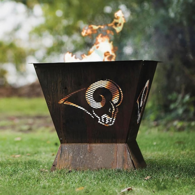 Blue Sky Outdoor Living Los Angeles Rams 29 5 In W Patina Steel Wood Burning Fire Pit In The Wood Burning Fire Pits Department At Lowes Com