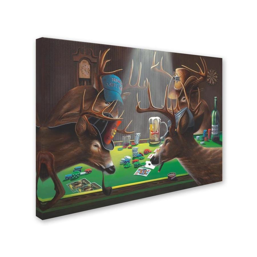 Trademark Fine Art Animals Framed 35 In H X 47 In W Animals Canvas Print In The Wall Art Department At Lowes Com